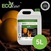 Биотопливо к биокаминам ECOline 5л. с ароматом АПЕЛЬСИНА