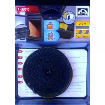 Шнур самоклеющийся из керамического волокна Hansa 10х2 мм, длина 2,5 м