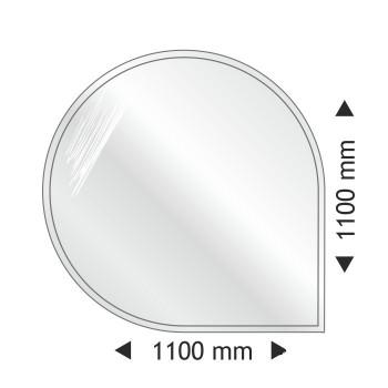 Круглая угловая стеклянная основа Parkanex 1100x1100mm