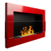 Настенный биокамин Globmetal 650x400 Красный глянец со стеклом