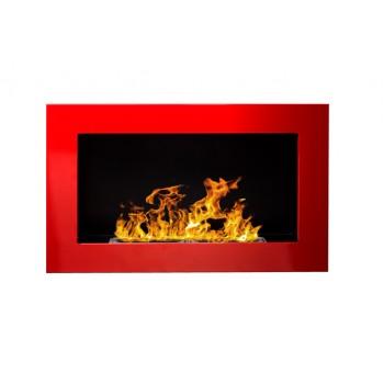 Настенный биокамин Globmetal 650x400 Красный глянец