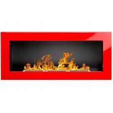 Биокамин Globmetal 900x400 Красный глянец