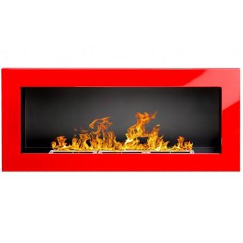 Настенный биокамин Globmetal 900x400 Красный глянец