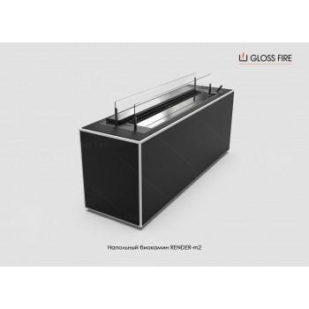 Напольный биокамин Render-2 торговой марки Gloss Fire