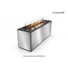 Напольный биокамин Render-m3 торговой марки Gloss Fire