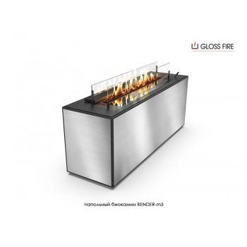 Напольный биокамин Render-3 торговой марки Gloss Fire