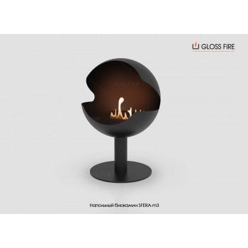 Напольный биокамин Sfera-m3 торговой марки Gloss Fire