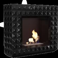 Биокамин EGZUL с кристаллами Swarovski черный глянцевый TÜV