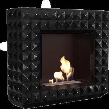 Биокамин Kratki EGZUL с кристаллами Swarovski черный глянцевый TÜV