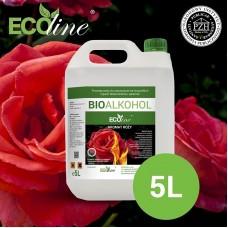 Биотопливо к биокаминам ECOline 5л. с ароматом РОЗЫ