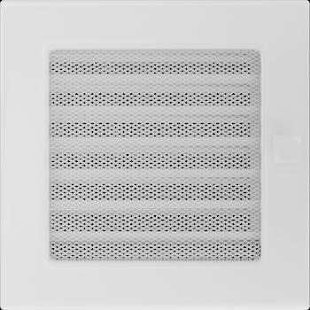 Вентиляционная решетка Kratki 17х17 см Белая с жалюзи