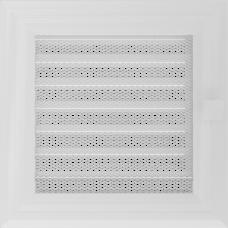 Вентиляционная решетка Kratki 17x17 см Oskar белая с жалюзи