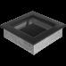 Вентиляционная решетка Kratki 17x17 см Черная без жалюзи