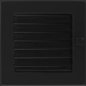 Вентиляционная решетка Kratki 17x17 см Черная с жалюзи
