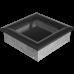 Вентиляционная решетка Kratki 17x17 см Oskar черная без жалюзи