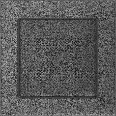 Вентиляционная решетка Kratki 17x17 см Черное серебро без жалюзи