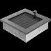 Вентиляционная решетка Kratki 17x17 см Черное серебро с жалюзи