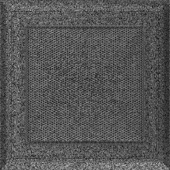 Вентиляционная решетка Kratki 17x17 см Oskar Черное серебро без жалюзи
