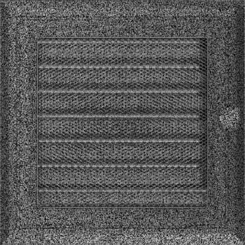 Вентиляционная решетка Kratki 17x17 см Oskar Черное серебро с жалюзи