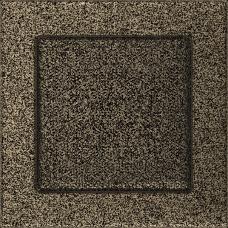 Вентиляционная решетка Kratki 17x17 см Черное золото без жалюзи