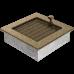 Вентиляционная решетка Kratki 17x17 см Черное золото с жалюзи