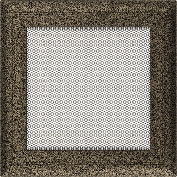 Вентиляционная решетка Kratki 17x17 см Oskar черное золото без жалюзи