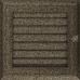 Вентиляционная решетка Kratki 17x17 см Oskar черное золото с жалюзи