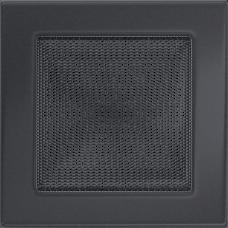 Вентиляционная решетка Kratki 17x17 см Графитовая без жалюзи