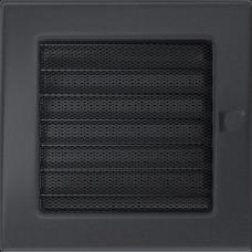 Вентиляционная решетка Kratki 17x17 см Графитовая с жалюзи