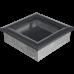 Вентиляционная решетка Kratki 17x17 см Oskar графитовая без жалюзи
