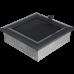 Вентиляционная решетка Kratki 17x17 см Oskar графитовая с жалюзи