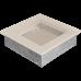 Вентиляционная решетка Kratki 17x17 см Кремовая без жалюзи