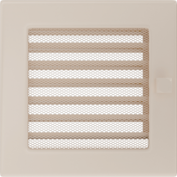 Вентиляционная решетка Kratki 17x17 см Кремовая с жалюзи