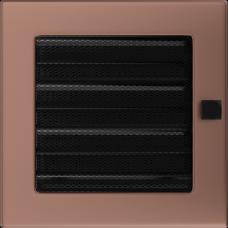 Вентиляционная решетка Kratki 17x17 см Медь гальванизированная с жалюзи