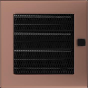 Вентиляционная решетка Kratki 17x17 см Медь гальванизированнаяс жалюзи