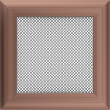 Вентиляционная решетка Kratki 17x17 см Oskar Медь гальванизированная без жалюзи