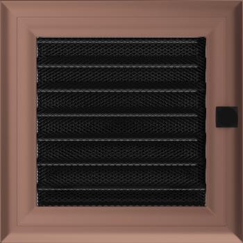 Вентиляционная решетка Kratki 17x17 см Oskar Медь гальванизированная с жалюзи