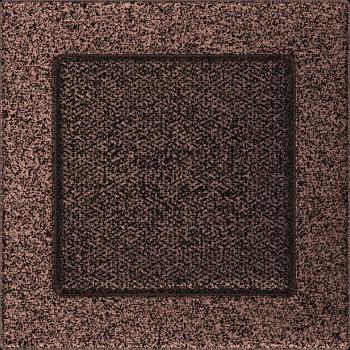 Вентиляционная решетка Kratki 17x17 см Медь карашеная без жалюзи