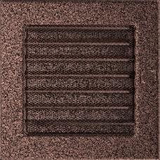 Вентиляционная решетка Kratki 17x17 см Медь карашеная с жалюзи