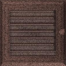 Вентиляционная решетка Kratki 17x17 см Oskar Медь крашеная с жалюзи