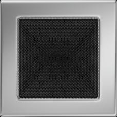 Вентиляционная решетка Kratki 17x17 см Никелированная без жалюзи
