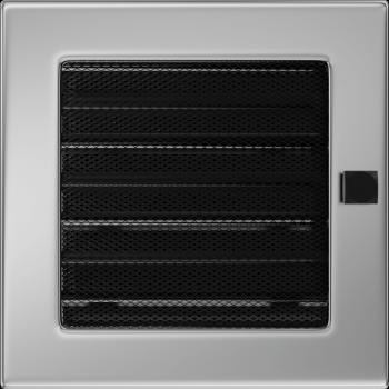 Вентиляционная решетка Kratki 17x17 см Никелированная с жалюзи