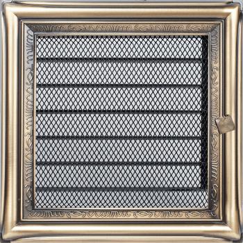 Вентиляционная решетка Kratki 17x17 см Рустикальная с жалюзи