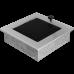 Вентиляционная решетка Kratki 17x17 см Шлифованная с жалюзи