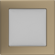 Вентиляционная решетка Kratki 17x17 см Золото гальванизированное без жалюзи