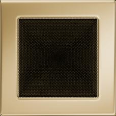 Вентиляционная решетка Kratki 17x17 см Золото без жалюзи