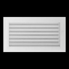 Вентиляционная решетка Kratki 17x30 см Oskar Белая с жалюзи