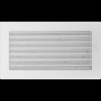 Вентиляционная решетка Kratki 17x30 см Белая с жалюзи