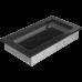 Вентиляционная решетка Kratki 17x30 см Черная без жалюзи