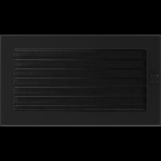 Вентиляционная решетка Kratki 17x30 см Черная с жалюзи